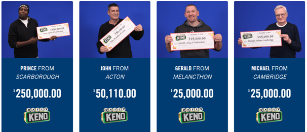 Keno- How to check results in Ontario
