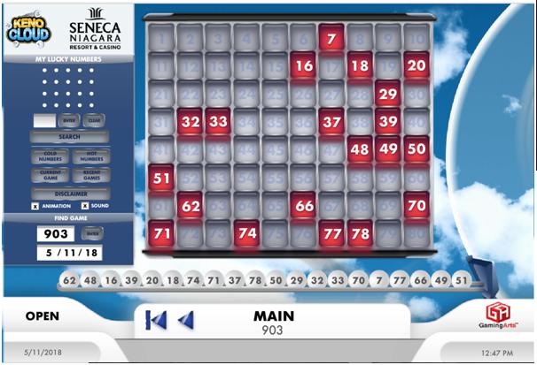 How to play Keno at Seneca Niagara