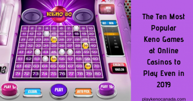 The Ten Most Popular Keno Games at Online Casinos to Play Even in 2019