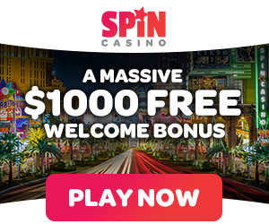 $1000 Free welcome bonus at Spin Casino